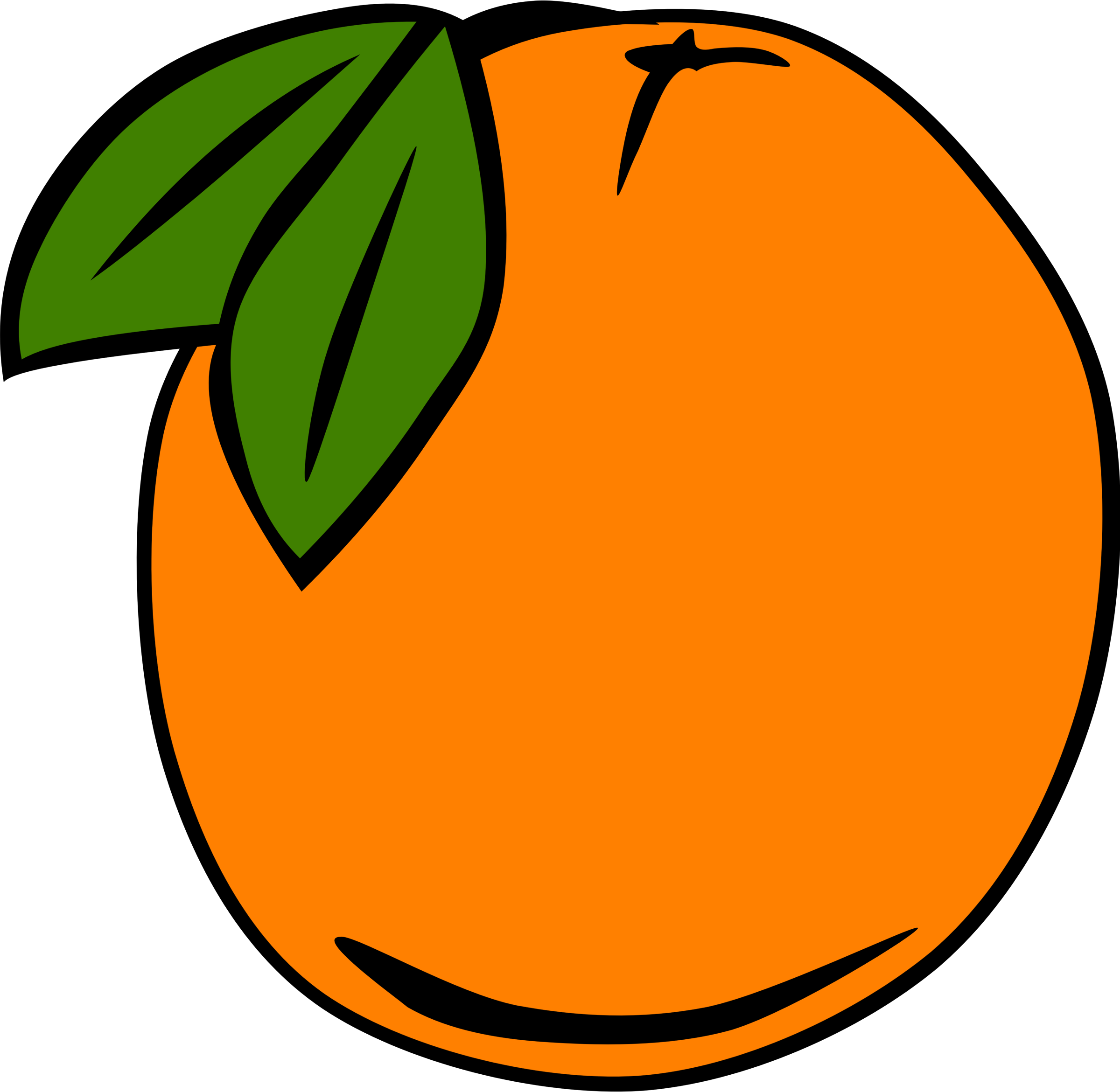 Clipart food simple. Fruit orange big image