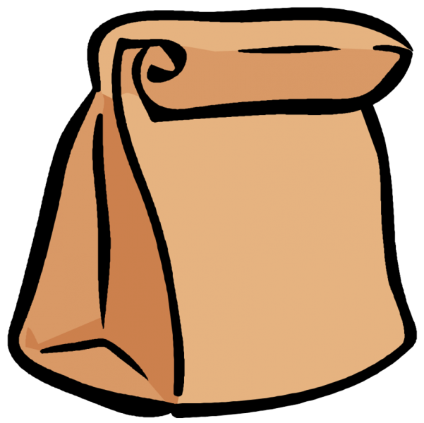 Clipart student listening. Bag snack