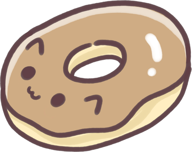 Doughnut clipart kawaii. Cute donut cat food