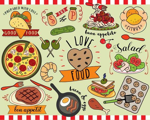 I love vector clip. Planner clipart food journal