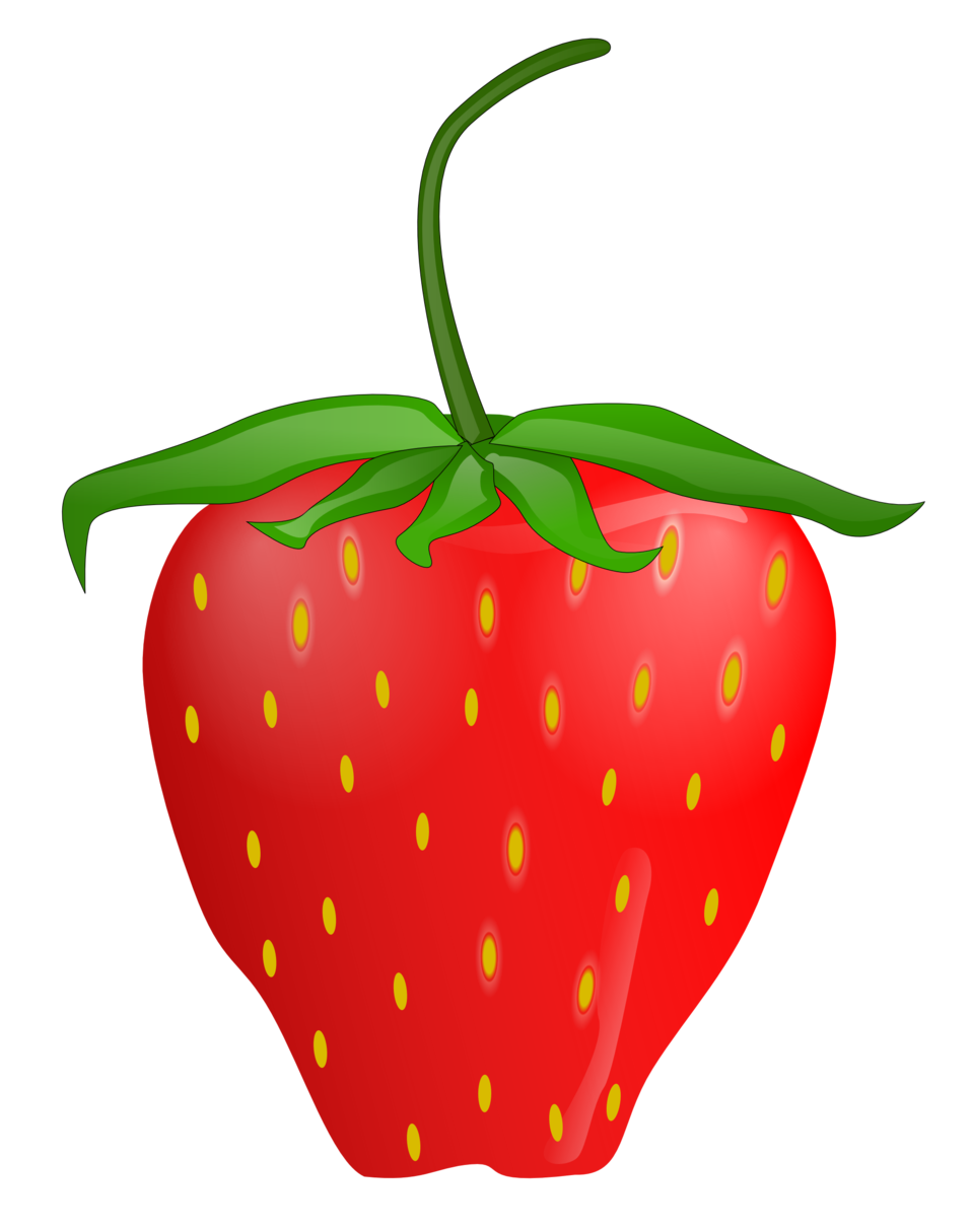 Clipart fruit strawberry. Public domain clip art
