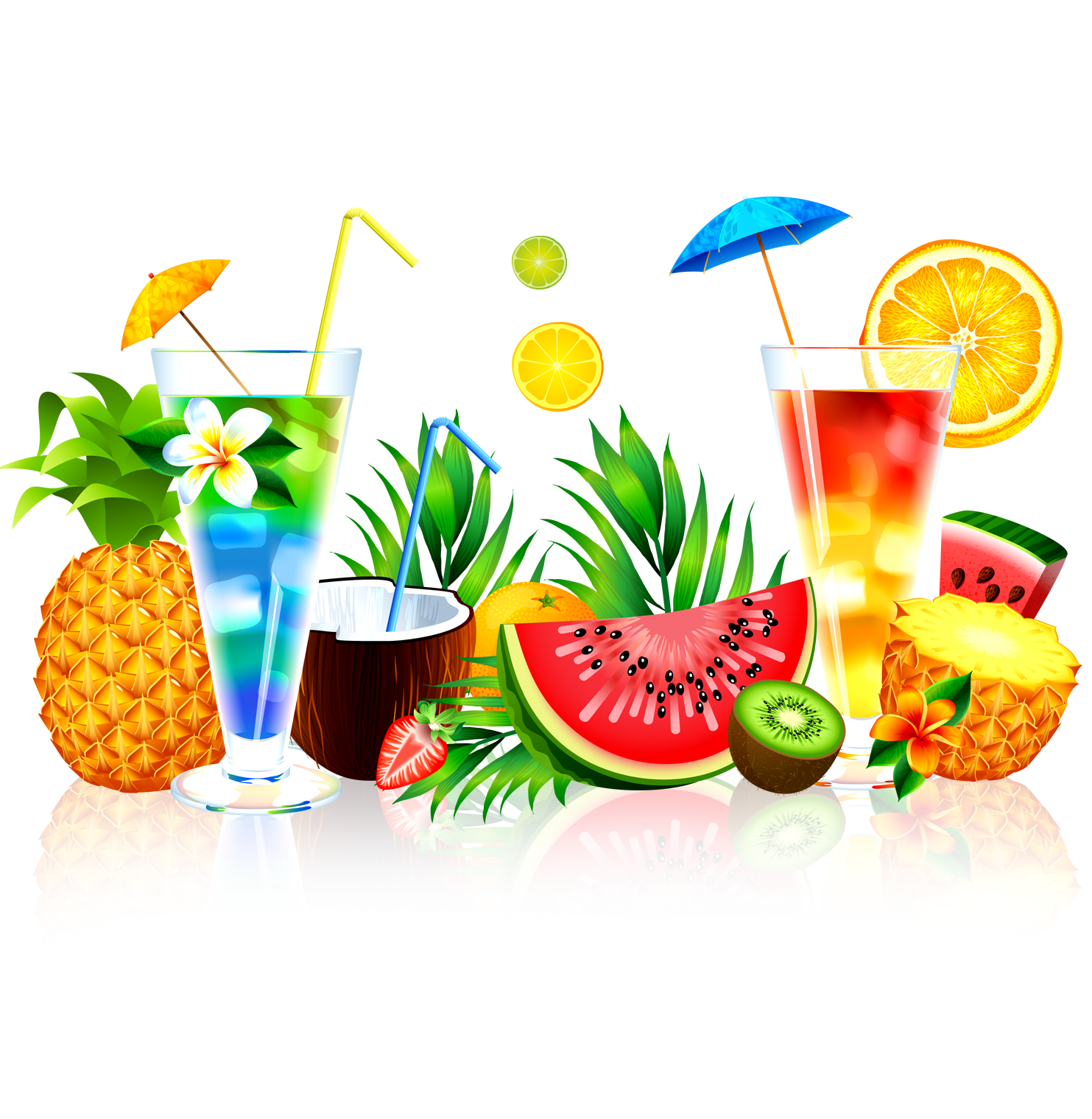 Lime clipart summer fruit. Juice watermelon pineapple transprent
