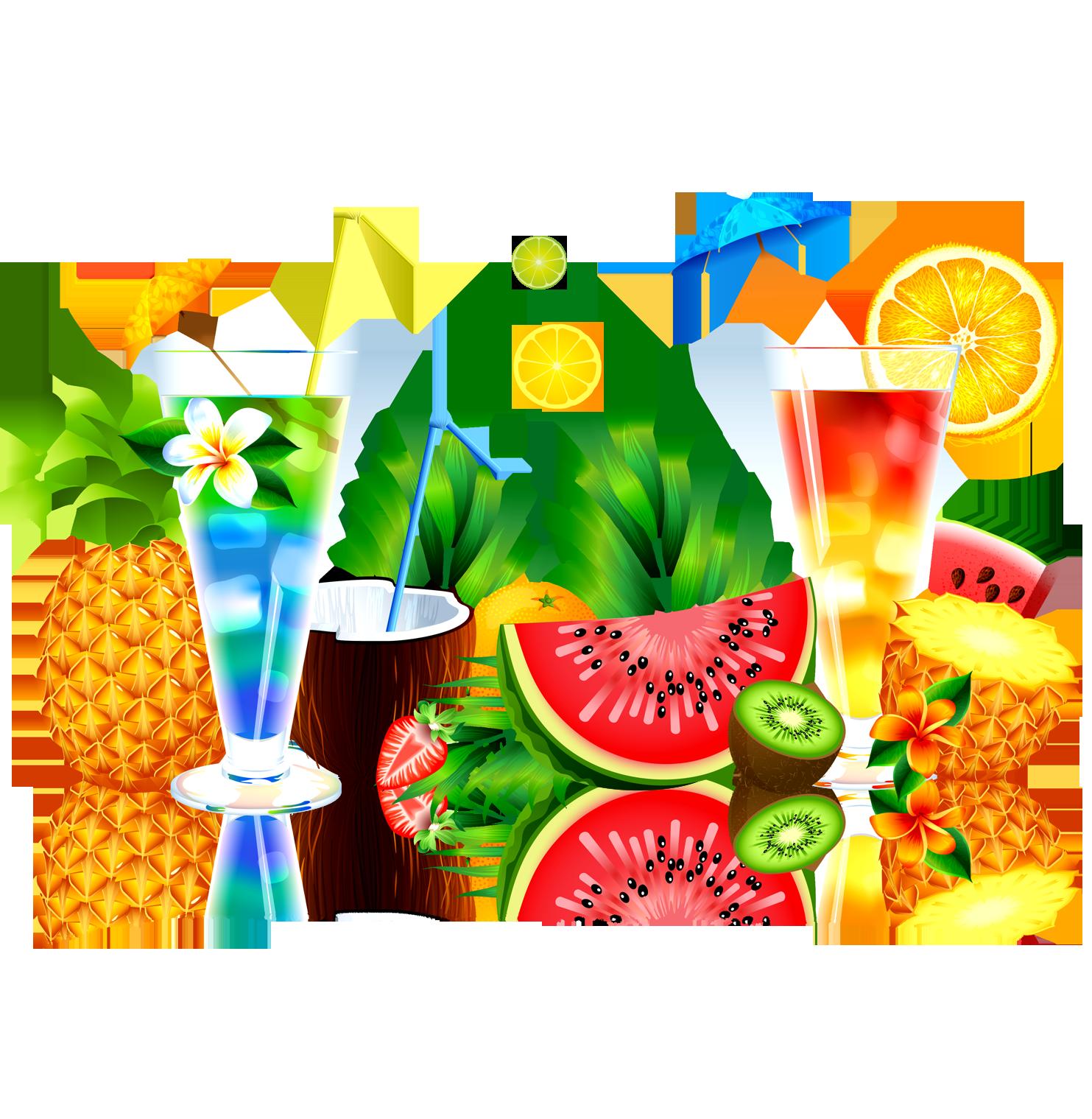 Cocktails clipart pineapple drink. Juice fruit watermelon summer