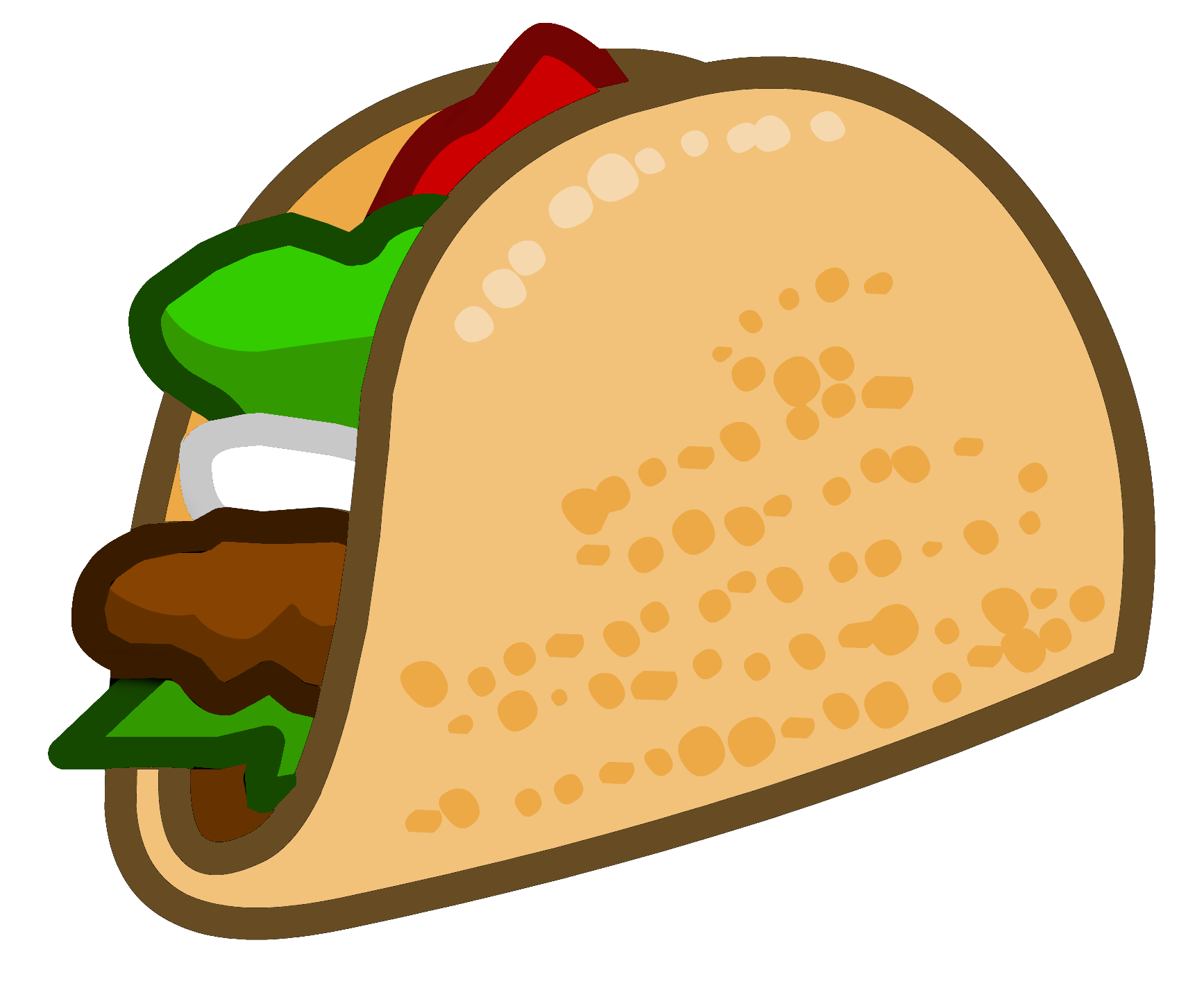 Picture for clipartix . Tacos clipart taco night