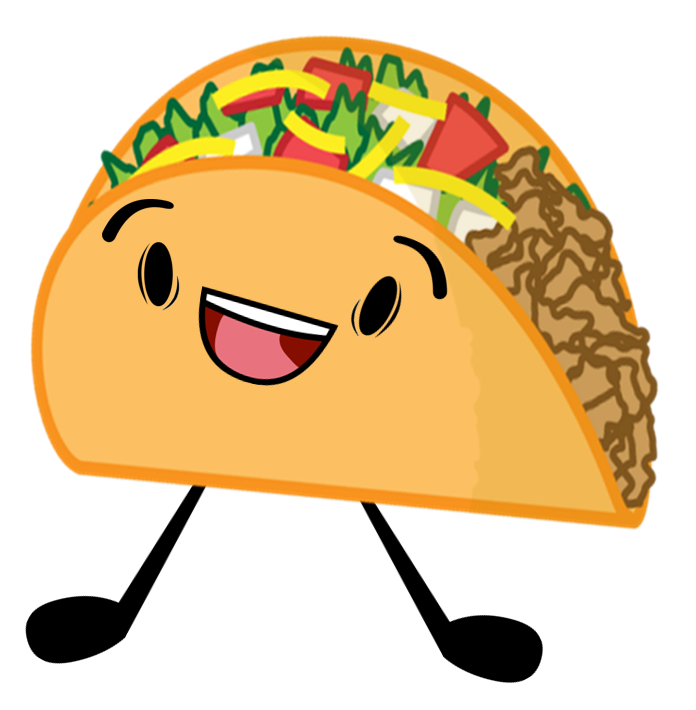 Attack of the objects. Foods clipart taco