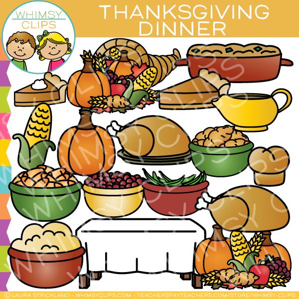 Dinner clip art . Clipart thanksgiving foods