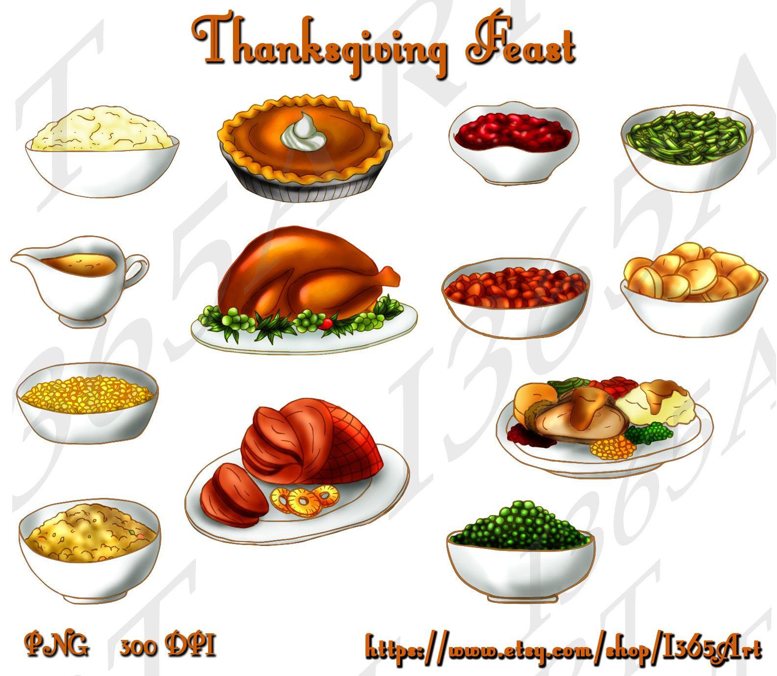 Thanksgiving turkey clip art. Feast clipart vintage dinner