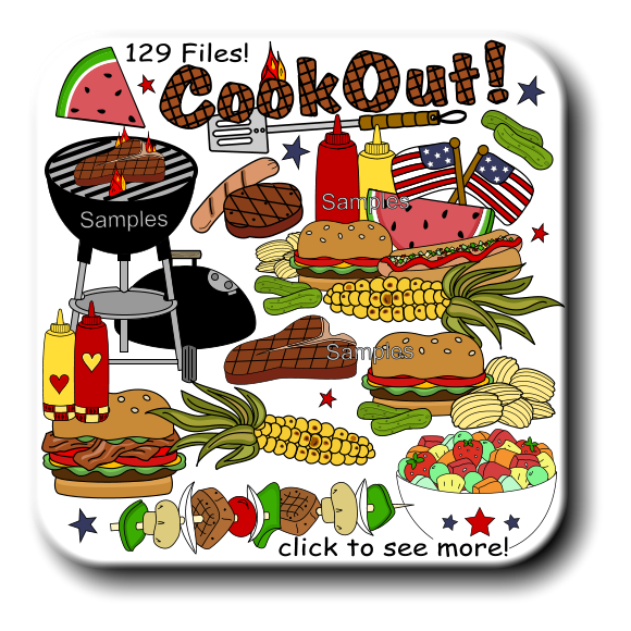 Clipart food time. Cookout