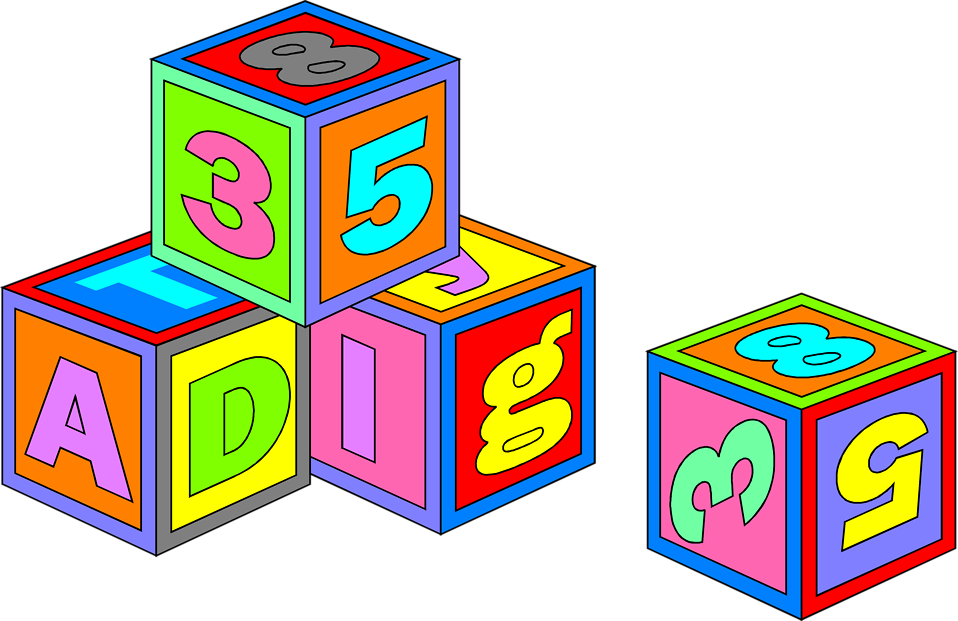 Blocks toys free stock. Toy clipart illustration