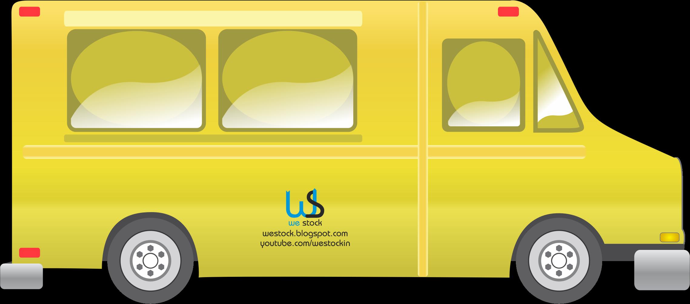 Food truck big image. Transportation clipart vector
