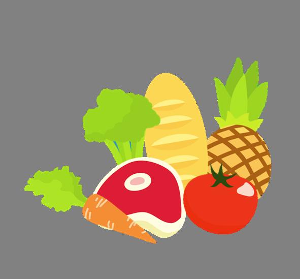 Market clipart food mile. Nutrition health corner frames