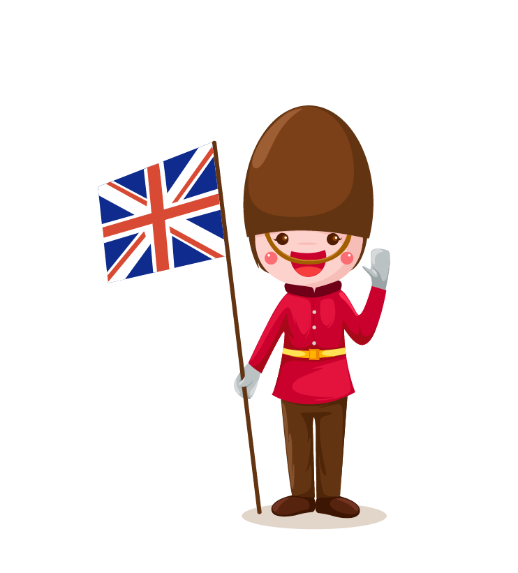 About england facts flag. English clipart child