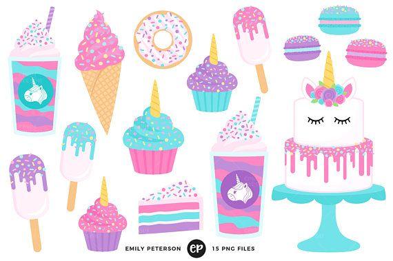 Clipart unicorn food. Treats clip art cake