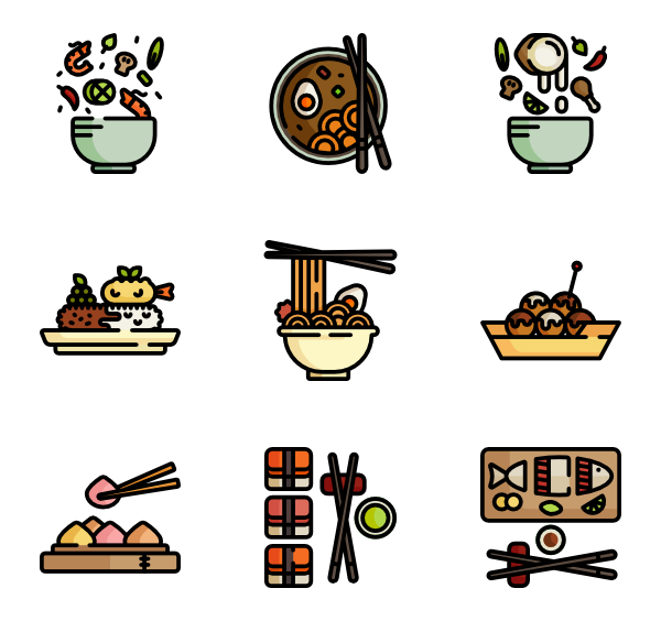 Foods clipart rice. Icons free vector asian