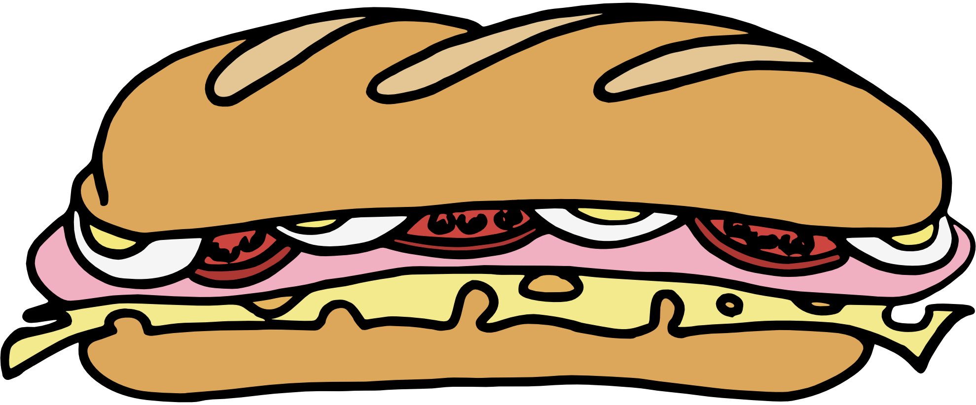 Ham clipart animated. Sandwich transparent pencil and