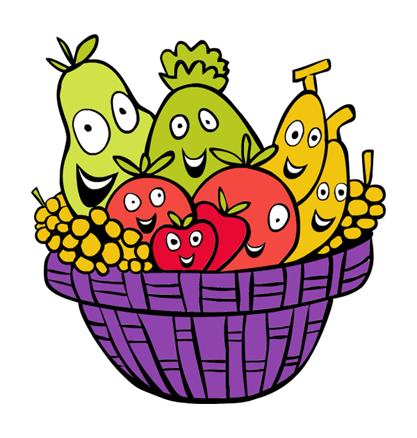 Fruit and vegetables free. Raffle clipart goodie basket