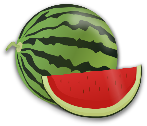 Heart clipart watermelon. Kiwis grapes fruit