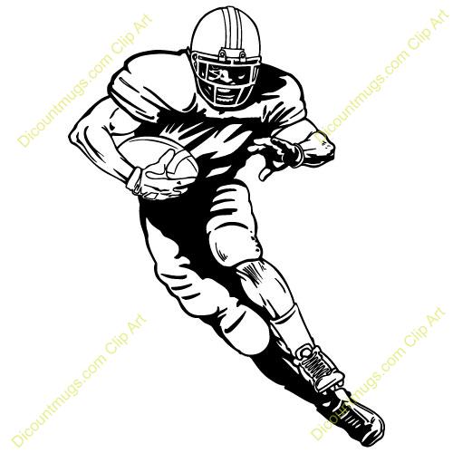 Football clipart runner. American player panda free
