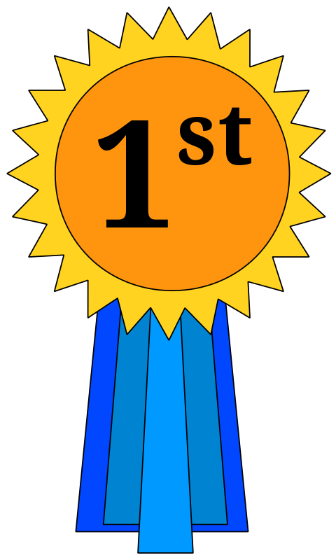 st place award. Number 1 clipart medal