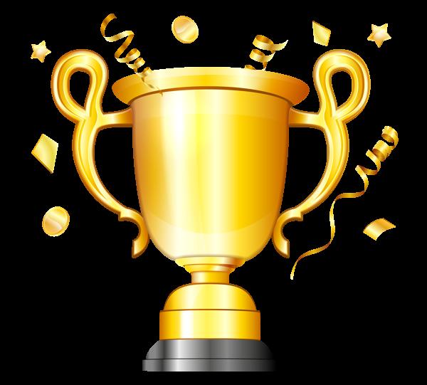 Gold cup transparent png. Student clipart trophy