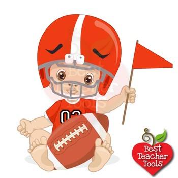 Football clipart baby. Boy nursery sports clip