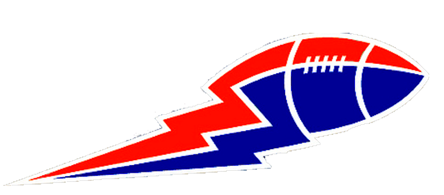 Lightning clipart large. Football bolt blue and