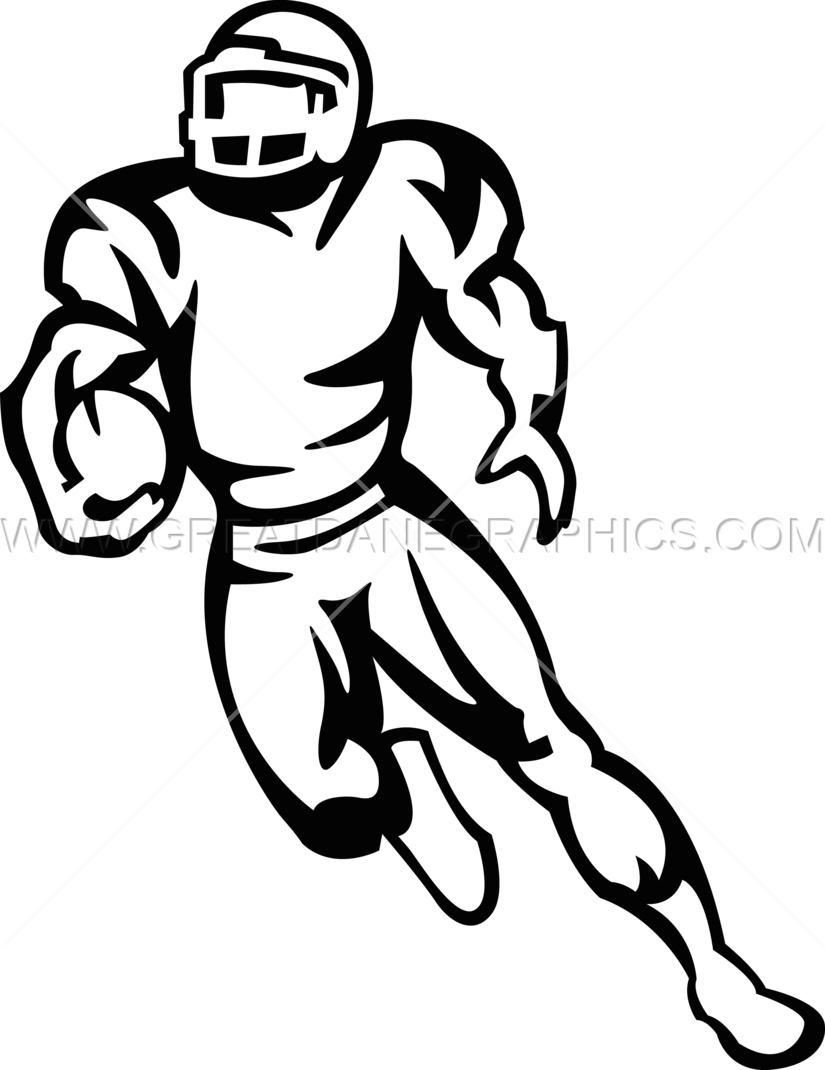 collection of player. Football clipart running back