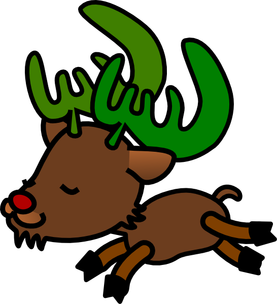Christmas clip art at. Clipart reindeer dancing