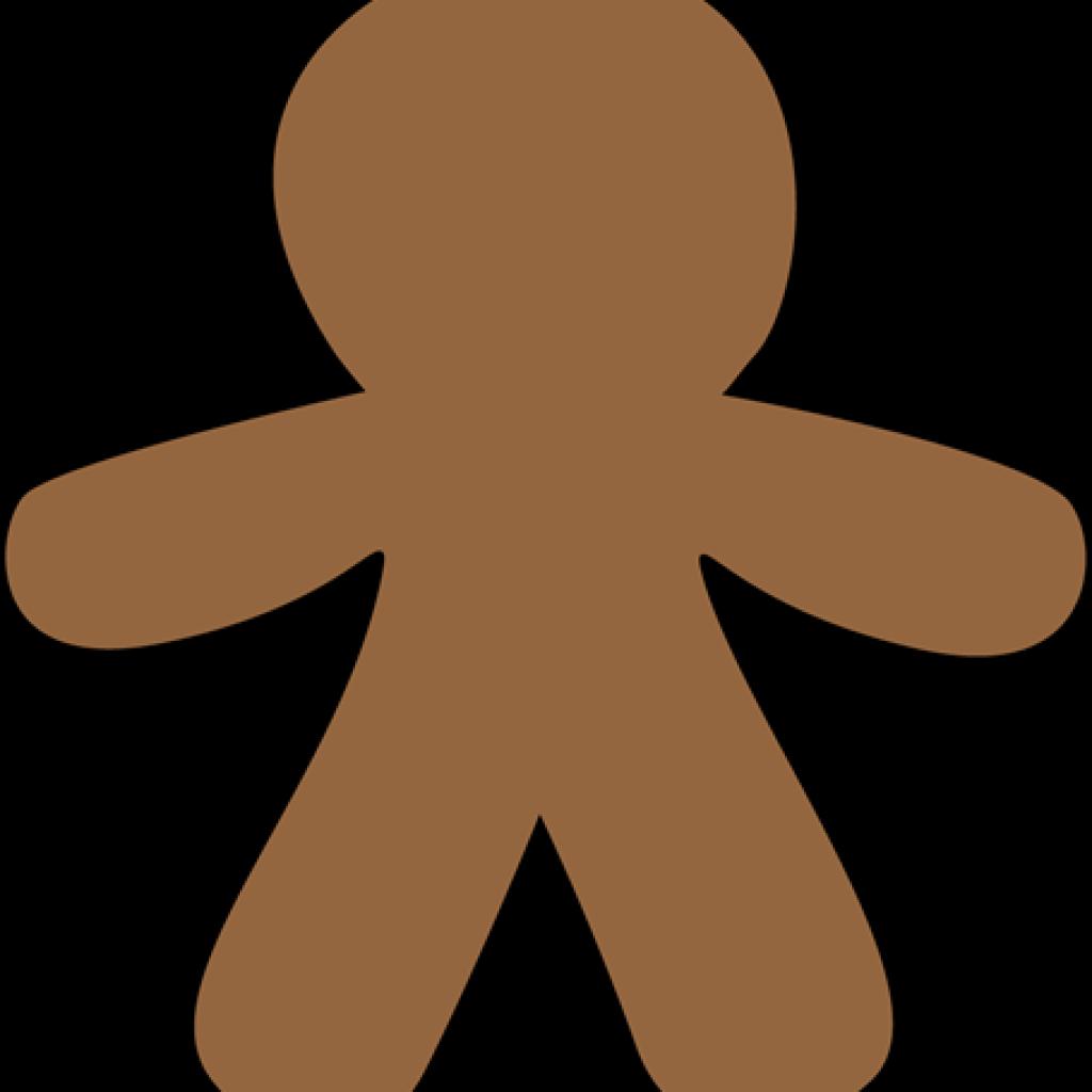 Clipart football christmas. Gingerbread man vector and