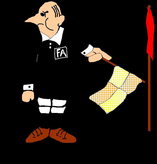 Ken aston referee society. Football clipart corner
