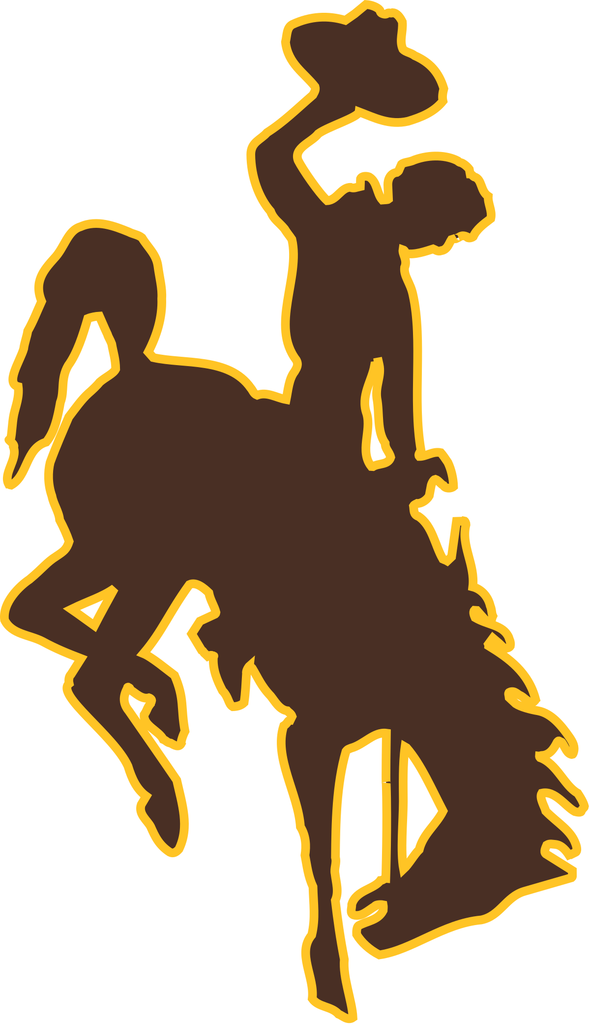 Cowboy clipart bluff. Horse and rider silhouette