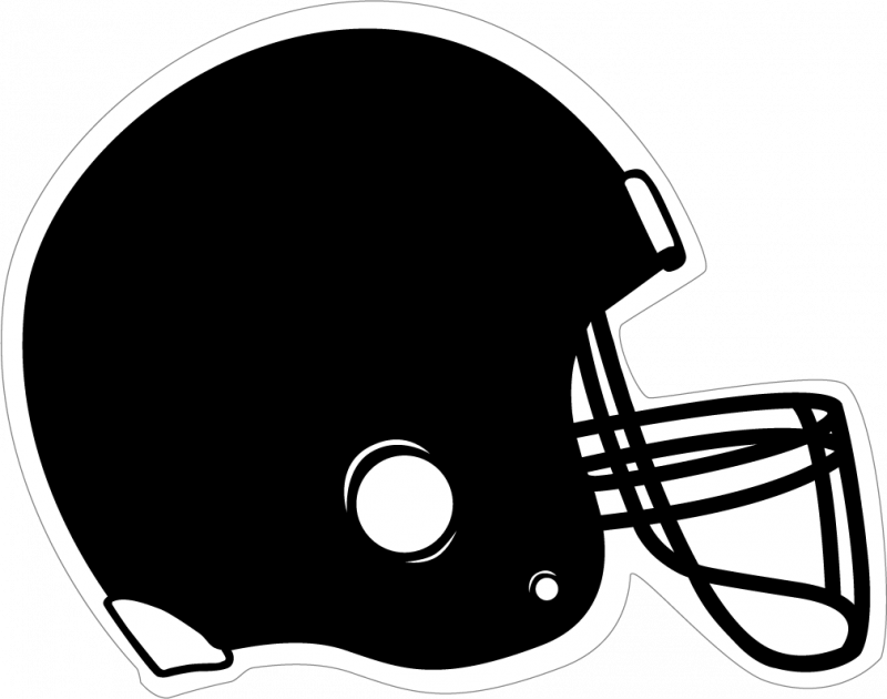 Helmet clipart file. Black football