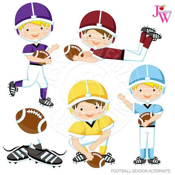 Season alternate digital boys. Clipart football cute