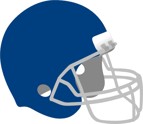 Dark blue helmet clip. Football clipart cute