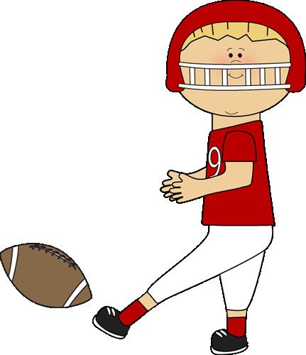 Player kicking a clips. Clipart football cute