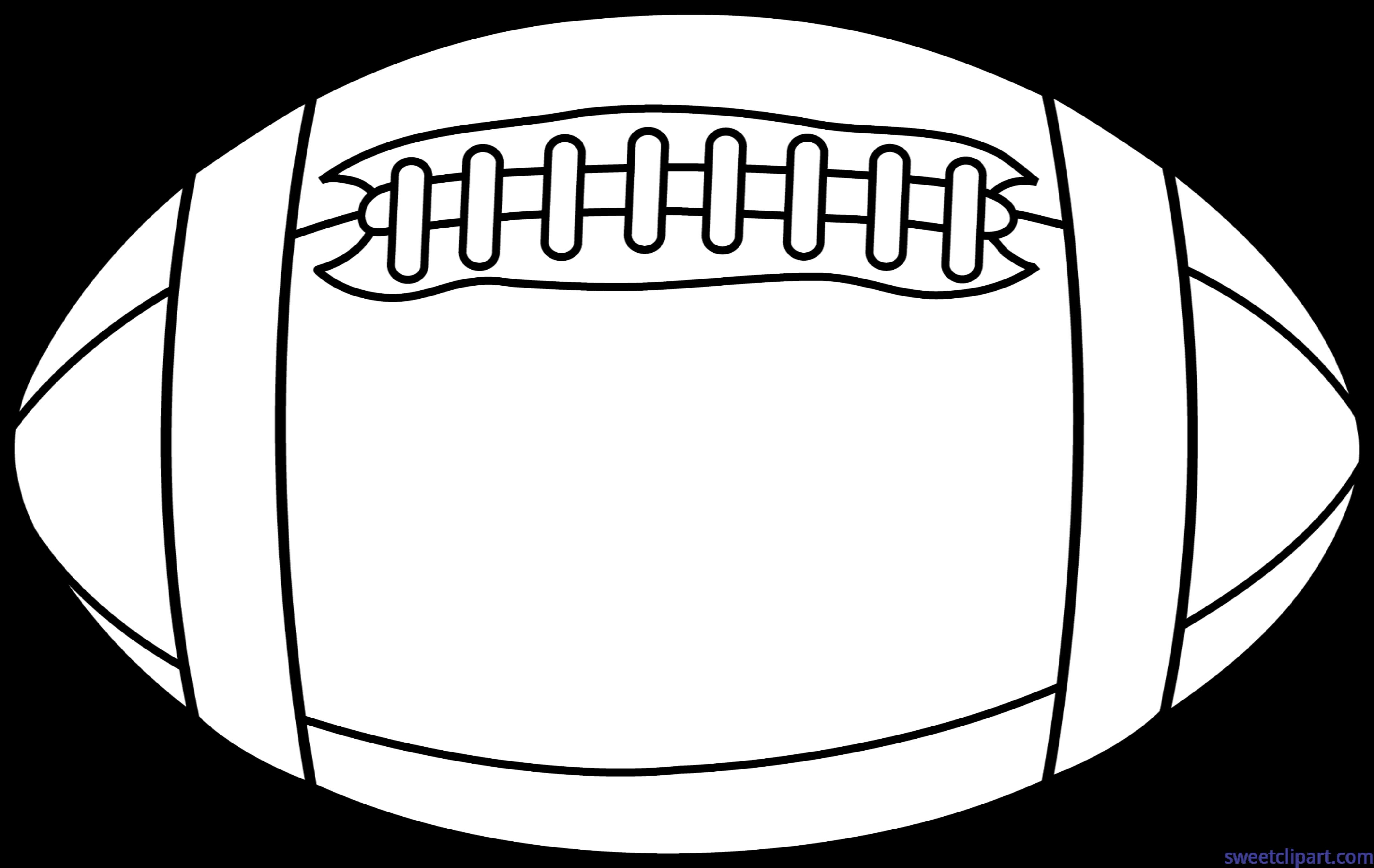 Clipart football cute. Lineart clip art sweet