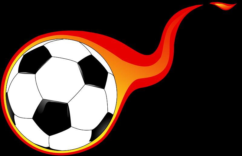 Flaming soccer ball clip. Clipart football dragon
