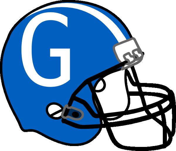 Clipart football face. Helmet blue g clip