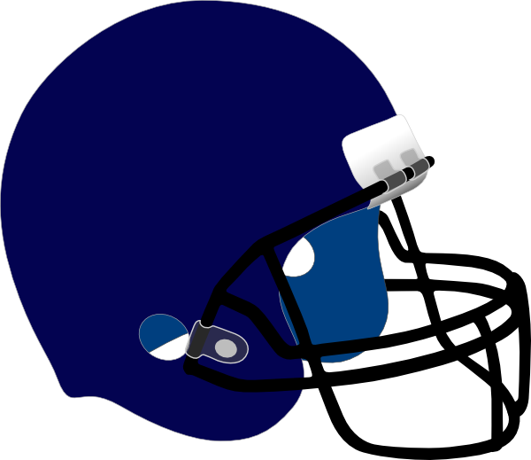 Clipart football face. Blue helmet clip art