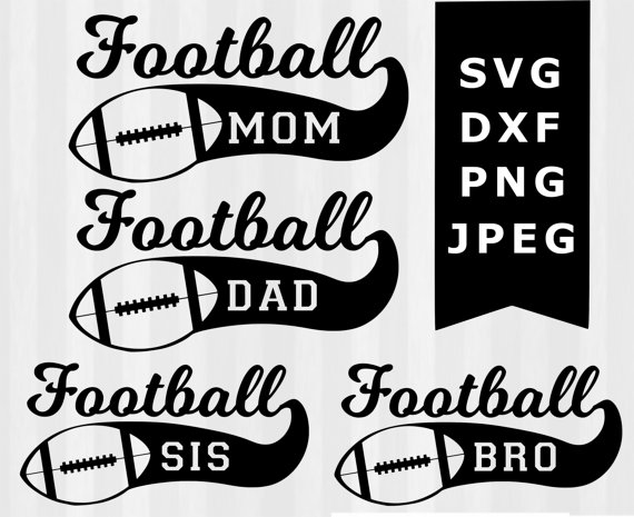 Clipart football family. Svg by