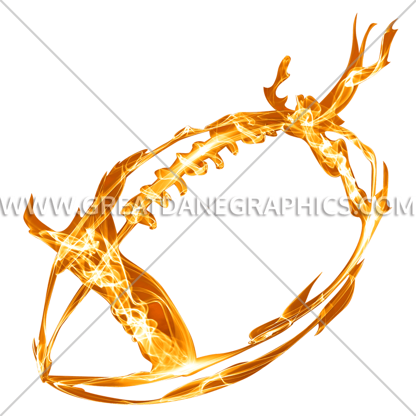 Glow production ready artwork. Clipart football fire
