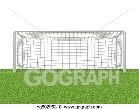 Clipart grass gate. Drawing football soccer on