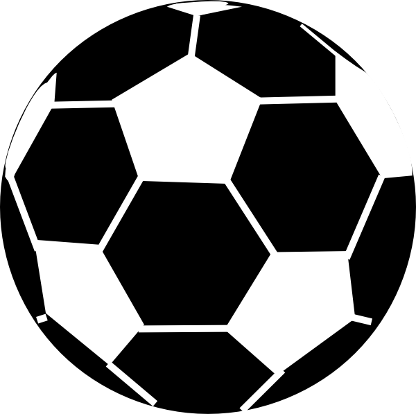 Football clipart goalie. Soccer black and white