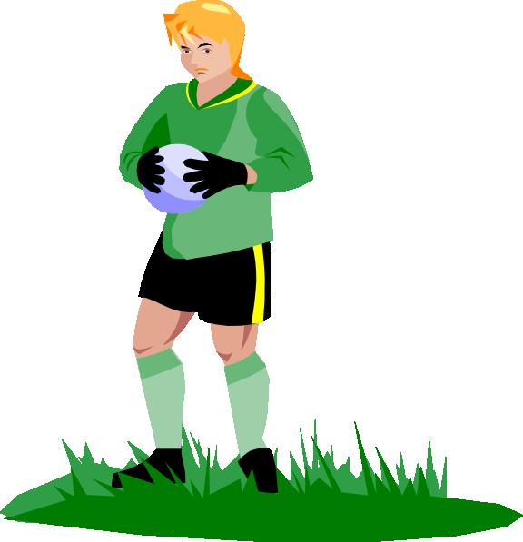 Soccer clip art at. Football clipart goalie