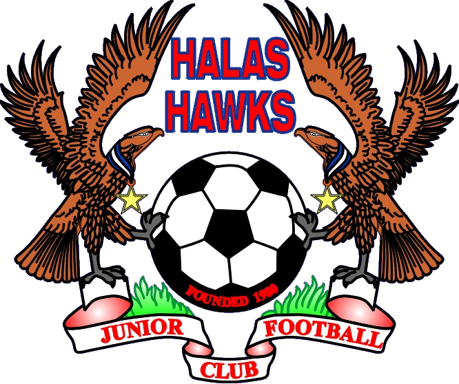 Clipart football hawk. Halas hawks junior club