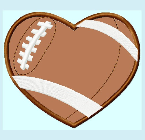 Hearts clipart football. Free heart cliparts download