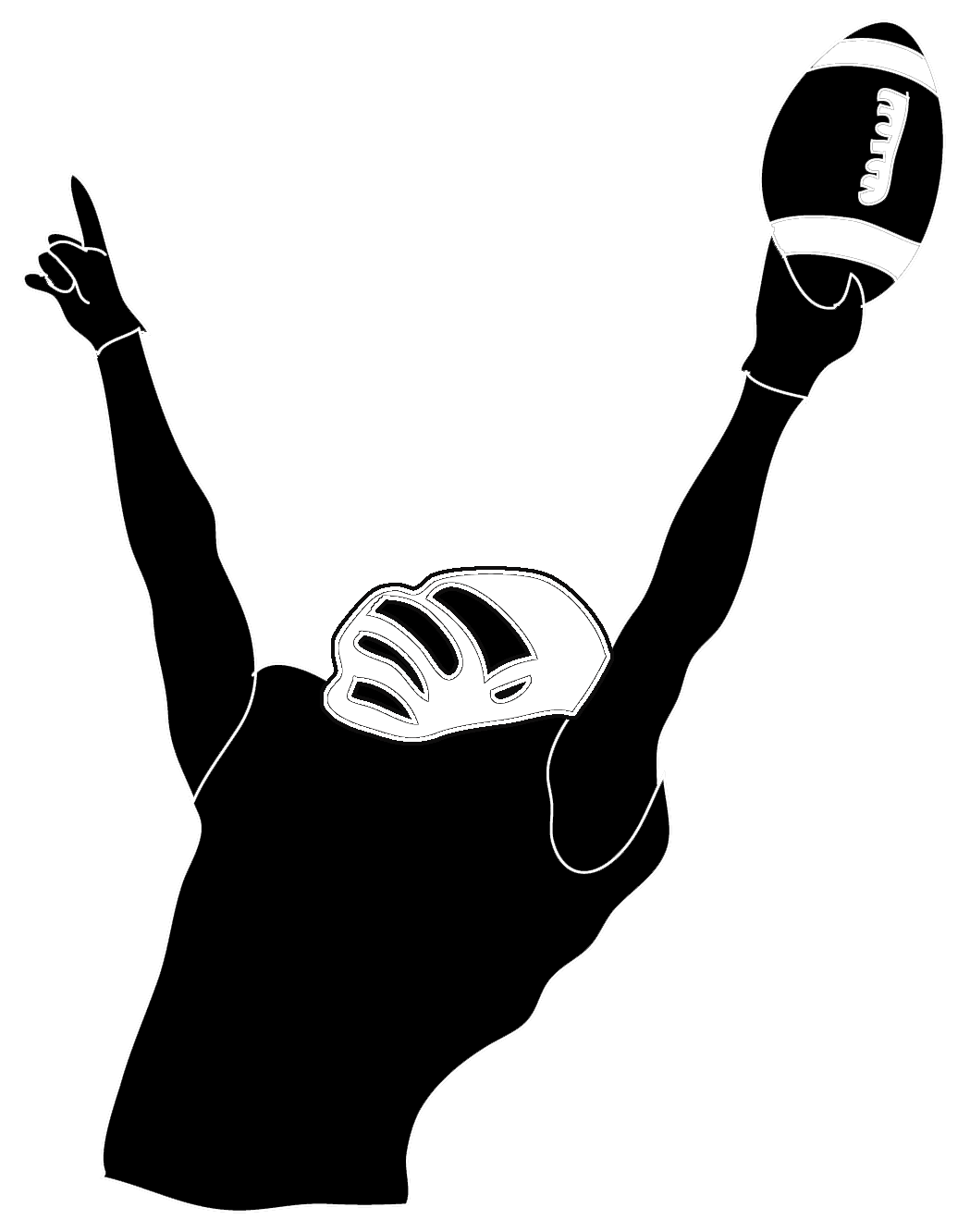 Clipart volleyball silhouette. Victory football player pinterest