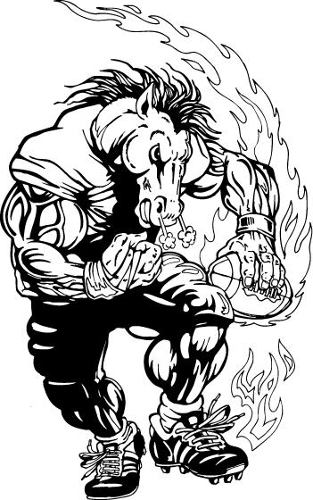 Mascot decals horse . Horses clipart football