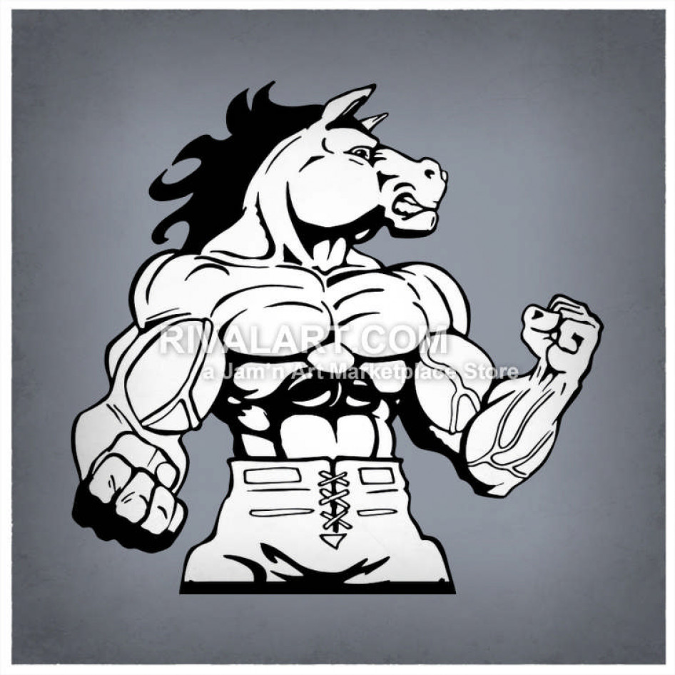Muscular horse . Horses clipart football