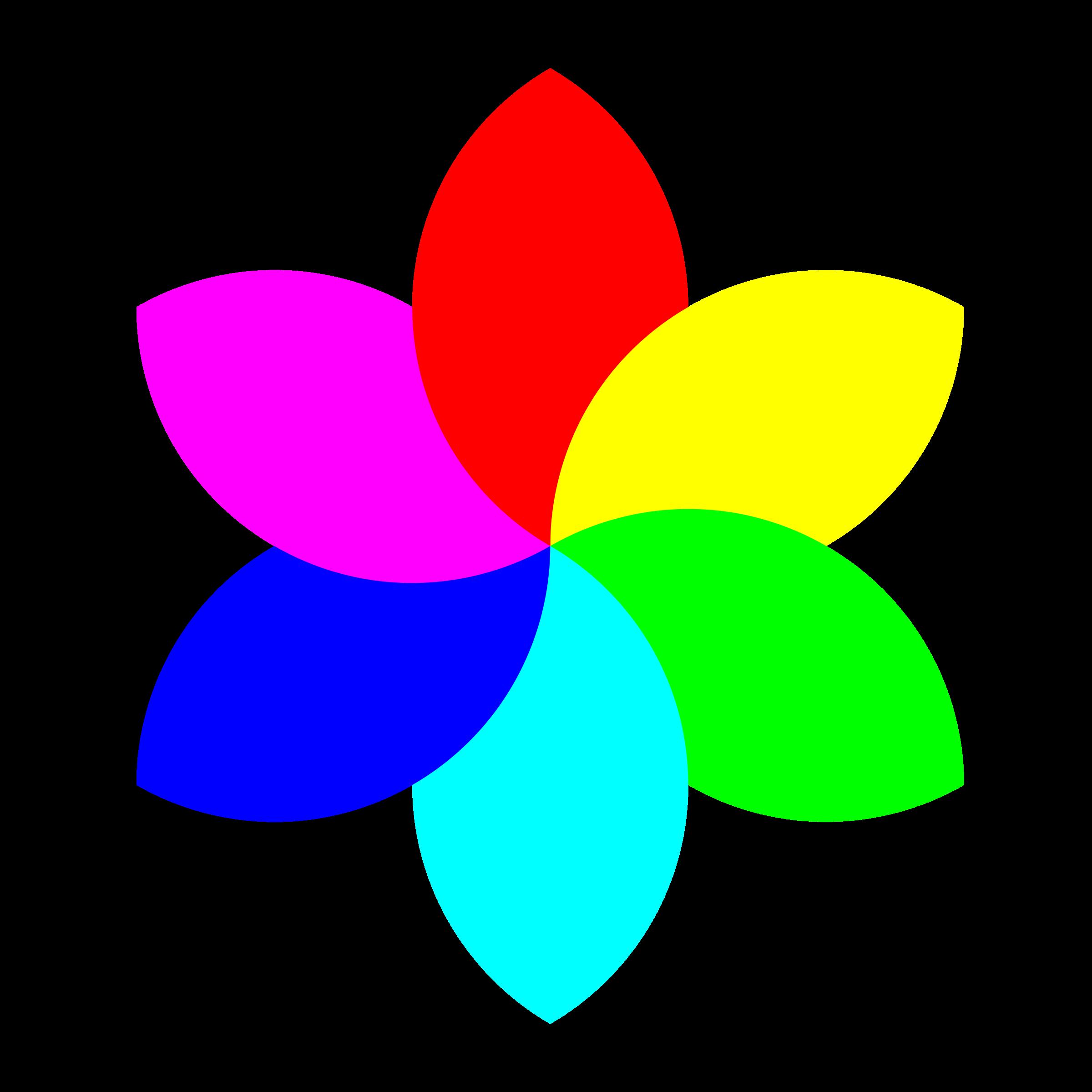 football petal flower. Flowers clipart rainbow